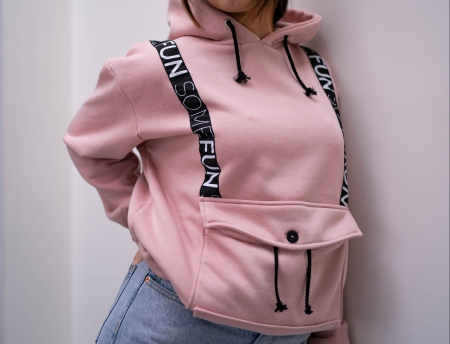 hoodie roze somefun